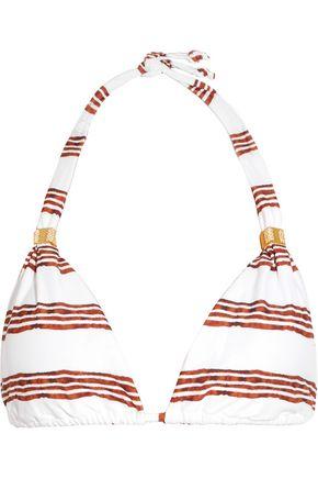 VIX Oasis striped triangle bikini top