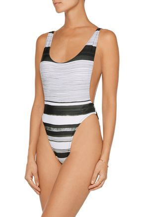 NORMA KAMALI Marissa striped swimsuit