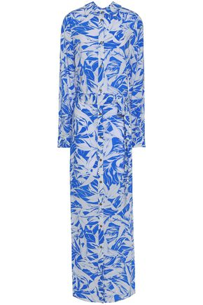 MELISSA ODABASH Belted floral-print coverup