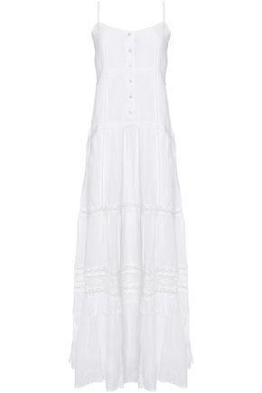 MELISSA ODABASH Mollie crochet-trimmed voile maxi dress