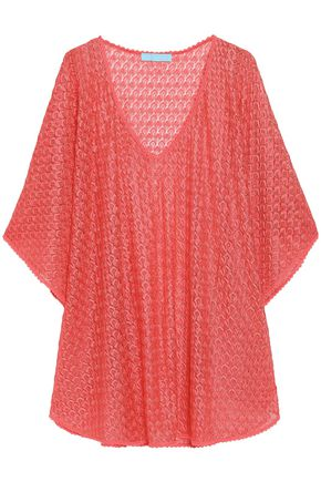 MELISSA ODABASH Madison metallic crochet-knit coverup