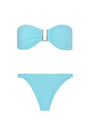 MELISSA ODABASH Barcelona snake-print bandeau bikini
