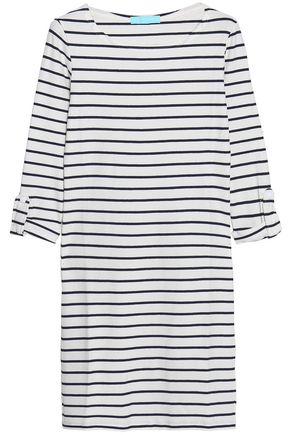 MELISSA ODABASH Striped ribbed-knit coverup