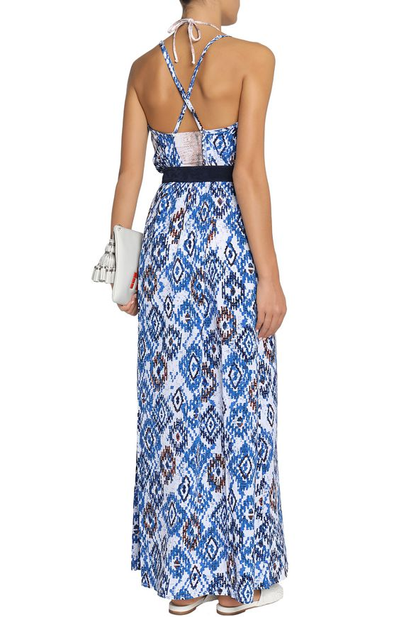 Embellished printed voile maxi dress | MELISSA ODABASH | Sale up to 70% off  | THE OUTNET