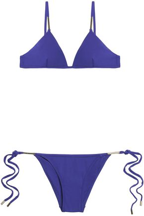 MELISSA ODABASH Verona Nautical striped triangle bikini