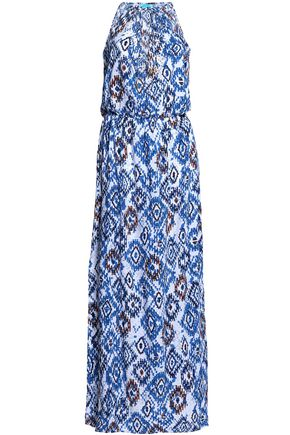 MELISSA ODABASH Printed jersey maxi dress