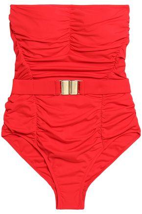 MELISSA ODABASH Croatia ruched belted swimsuit
