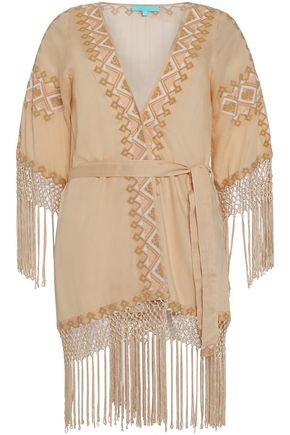 MELISSA ODABASH Dana embroidered voile robe