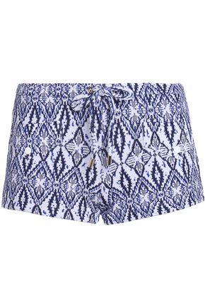 MELISSA ODABASH Intarsia-knit shorts