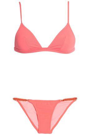 MELISSA ODABASH Bead-embellished triangle bikini