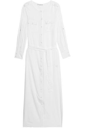 MELISSA ODABASH Belted voile maxi dress