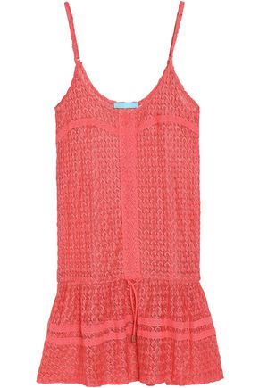 MELISSA ODABASH Khloe crochet-knit mini dress