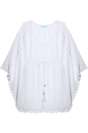 MELISSA ODABASH Roby lace-paneled voile coverup