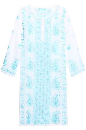MELISSA ODABASH Tanya embroidered voile dress