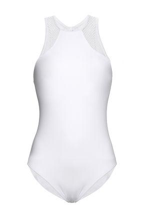 MELISSA ODABASH Bari mesh-trimmed swimsuit