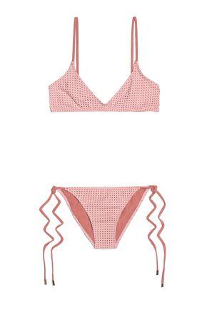 MELISSA ODABASH Laser-cut triangle bikini