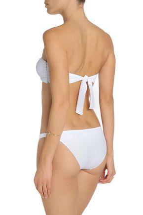 MELISSA ODABASH Aruba knotted perforated bandeau bikini