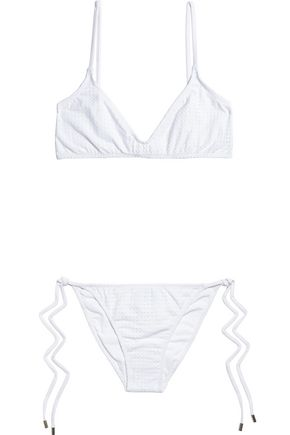 MELISSA ODABASH Peru perforated cotton-blend triangle bikini