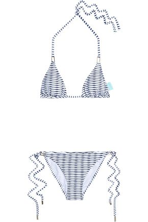 MELISSA ODABASH Printed triangle bikini