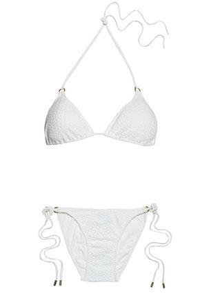 MELISSA ODABASH Matelassé triangle bikini