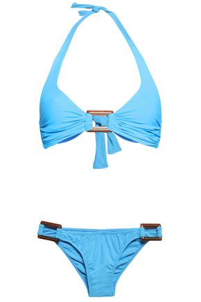 MELISSA ODABASH Paris ruched halterneck bikini