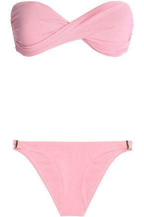 MELISSA ODABASH Martinique twisted striped bandeau bikini