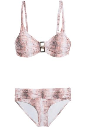 MELISSA ODABASH Embellished ruched bikini