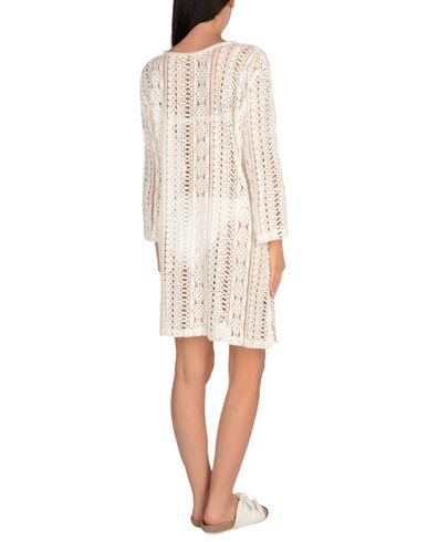 MIRIAM STELLA Damen Strandkleid Weiß Größe L 100% Baumwolle