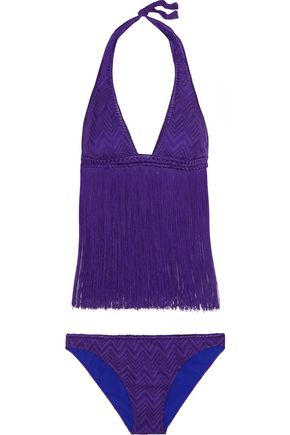 MISSONI Mare fringed crochet-knit bikini