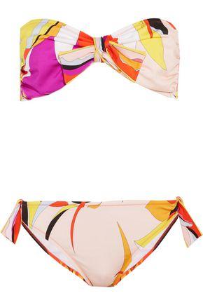 EMILIO PUCCI Fiore Maya printed bandeau bikini