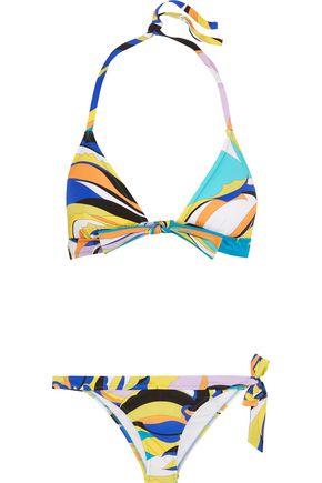 EMILIO PUCCI Fiore Maya printed triangle bikini