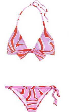 EMILIO PUCCI Printed triangle bikini