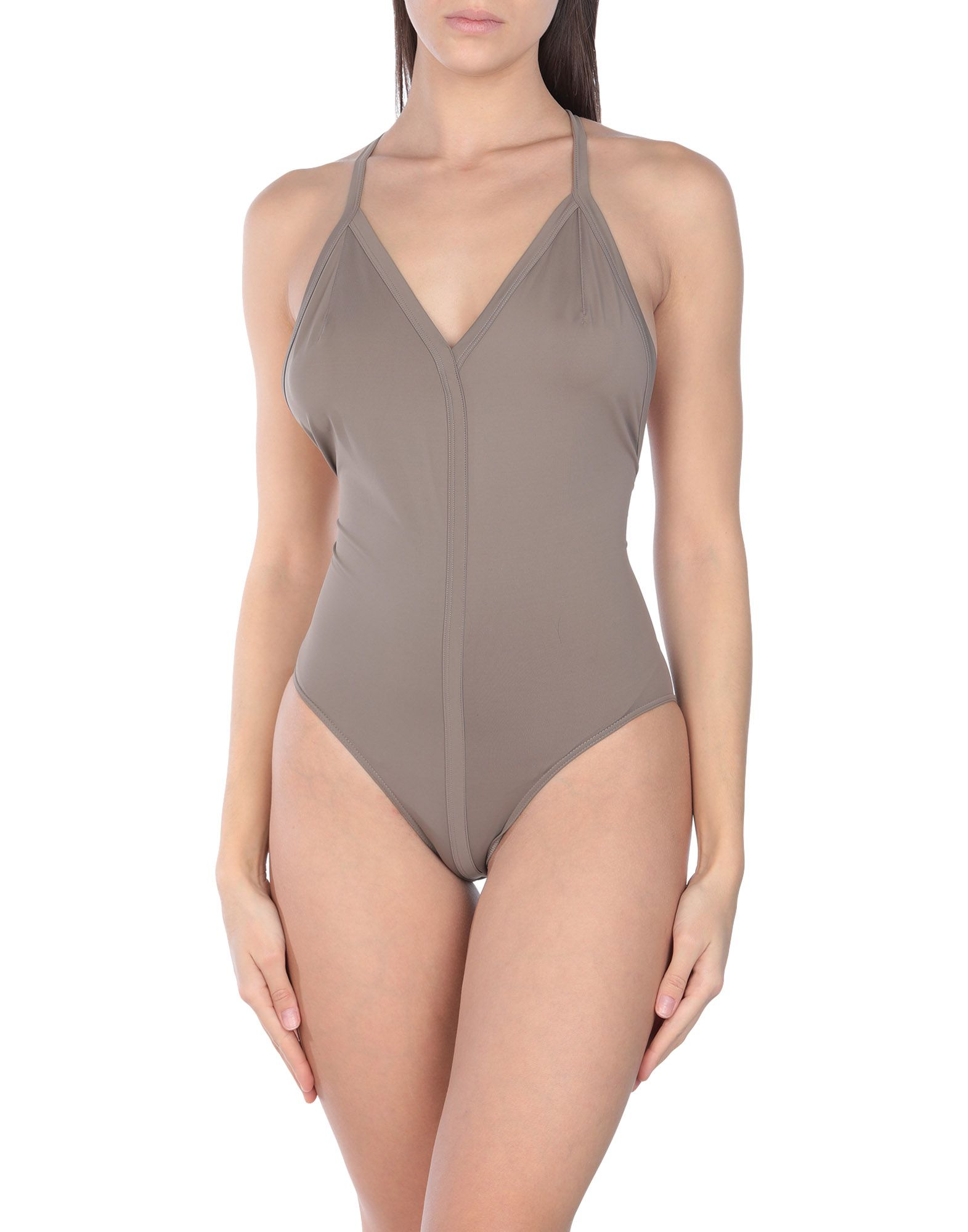 RICK OWENS One-piece swimsuits. synthetic jersey, no appliqués, basic solid color, stretch. 80% Polyamide, 20% Elastane