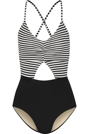 TART Karel cutout striped swimsuit