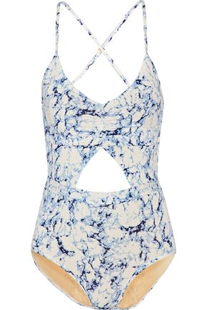 Karel cutout printed swimsuit