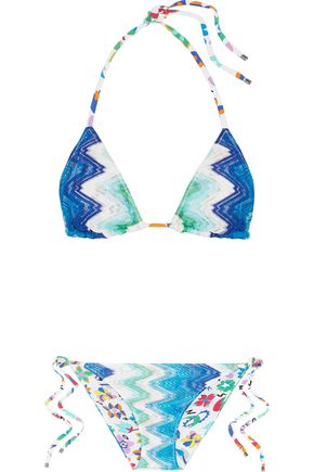 MISSONI Mare reversible crochet-knit halterneck bikini