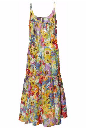 STELLA McCARTNEY Floral-print cotton and silk-blend coverup