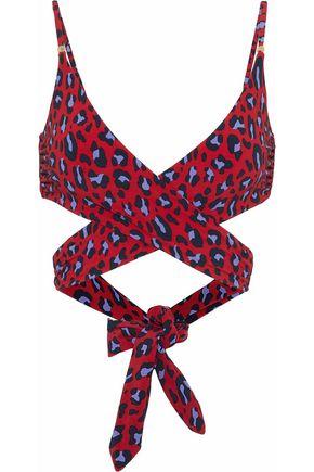 STELLA McCARTNEY Leopard-print bikini top