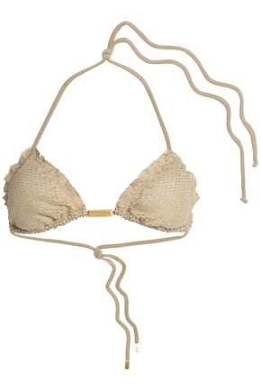 VIX PAULAHERMANNY Laser-cut triangle bikini top