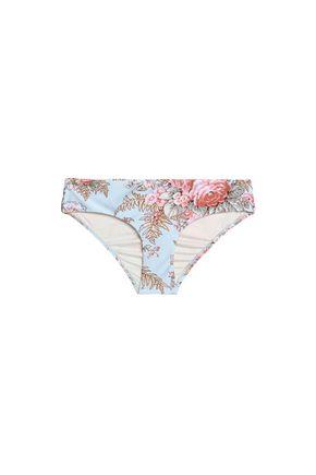 ZIMMERMANN Floral-print mid-rise bikini briefs