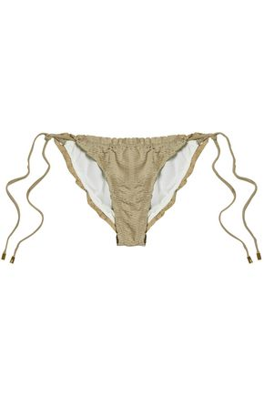 VIX PAULAHERMANNY Laser-cut low-rise bikini briefs