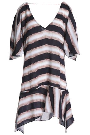 VIX PAULAHERMANNY Angel striped voile coverup