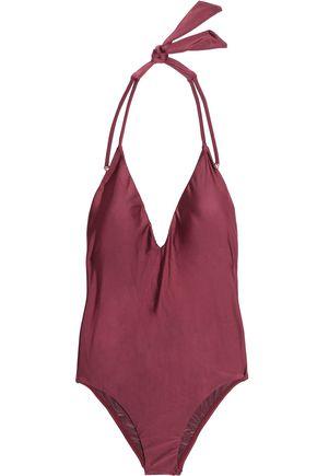 VIX PAULAHERMANNY Solid Piercing halterneck swimsuit