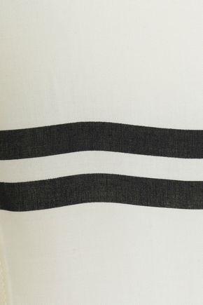 VIX PAULA HERMANNY Striped poplin cover-up