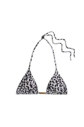 VIX PAULAHERMANNY Deva leopard-print triangle bikini top
