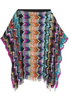 MISSONI MARE Fringe-trimmed crochet-knit coverup