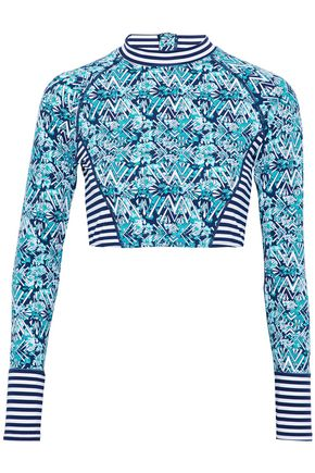 TART COLLECTIONS Paneled printed rash guard