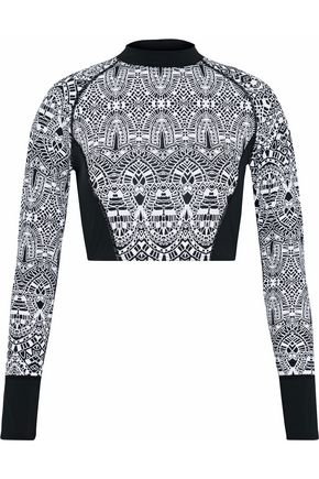 TART Cropped printed rash guard