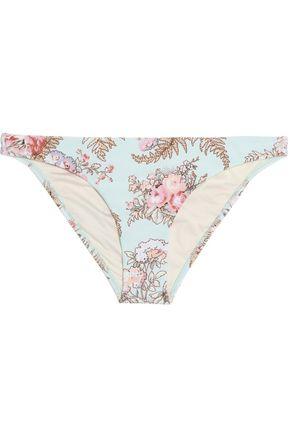 ZIMMERMANN Leopard-print cloqué bikini top