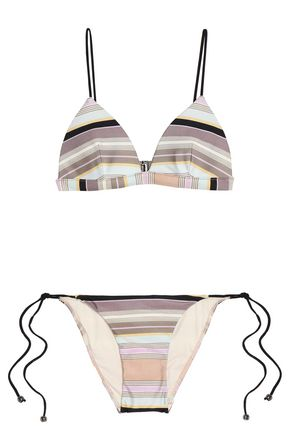 ZIMMERMANN Striped triangle bikini